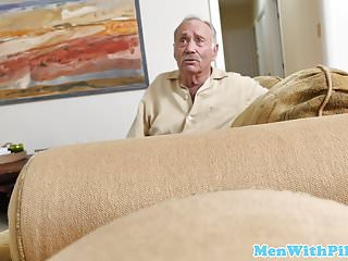 Geriatric erotic stories Ebony babe fucks two geriatrics
