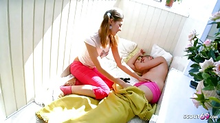 SISTER SEDUCES STEPBROTHER TO FUCK WITH WAKE UP BLOWJOB