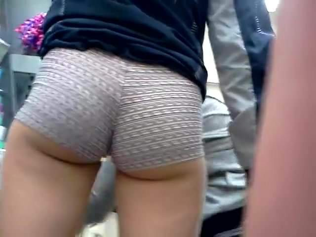 Short Tight Shorts Public