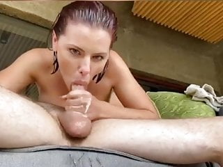 Giving a deep throat Adriana giving a sloppy deepthroating bj