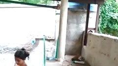 Nude bathing small Indian teen, hidden camera