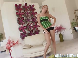 Teen summer romance - Tall blonde teen summer day gets ass fucked for first time