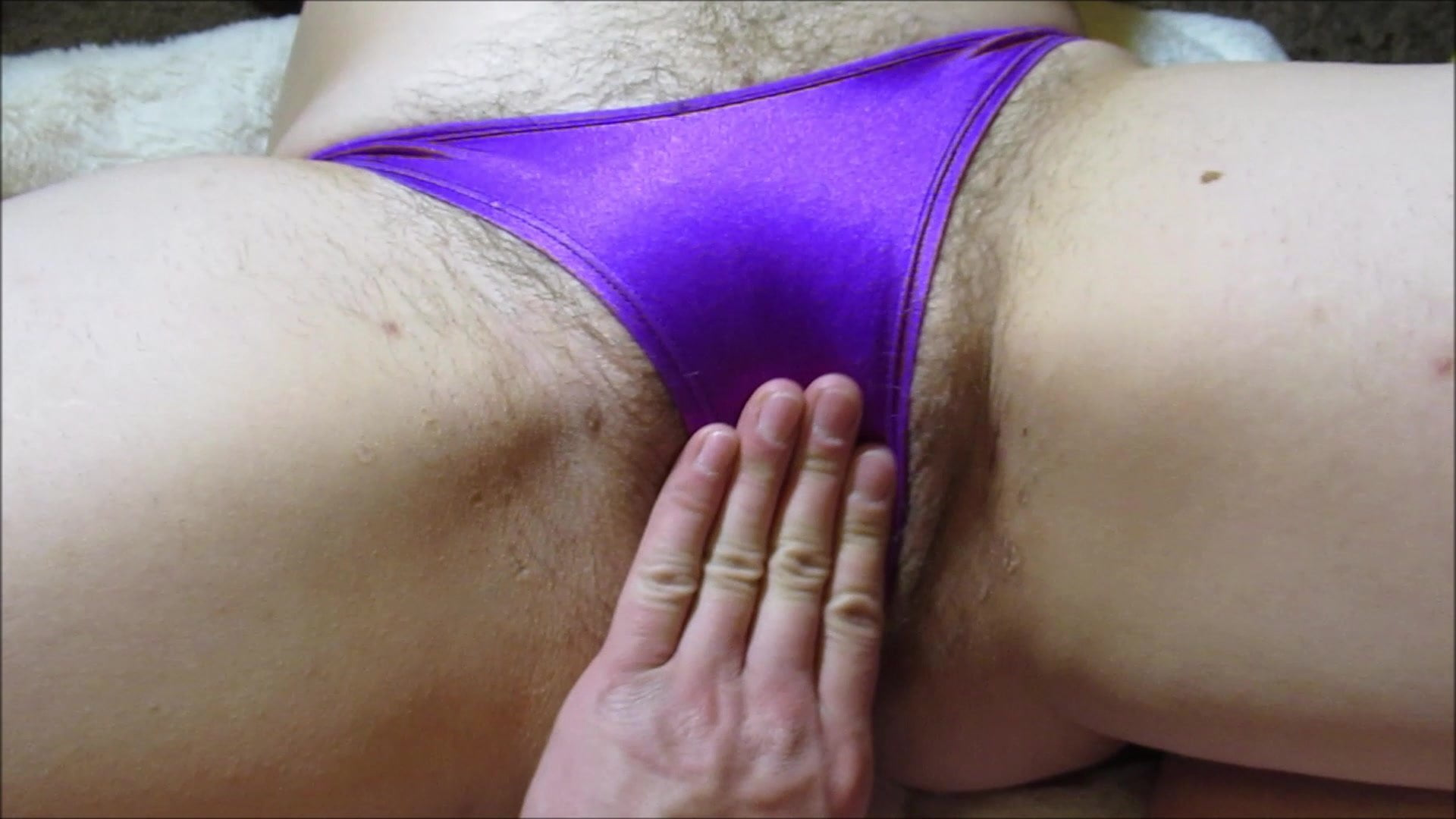 Hairy pussy in thongs #11