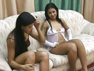 Young brazilian girls tits Intense soles sniffing between 2 young brazilian lesbians