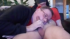 Older swedish man sucks cock with cumshot