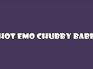 Sexy emo shirtless Sexy emo chubby in black