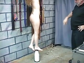 Breast niple sucking movies Young brunette slave has er niples bound with string.