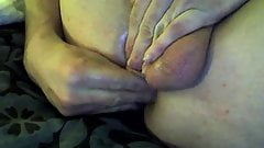 first time dildo play