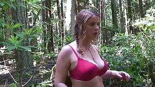 Cheerleader fucked in the woods