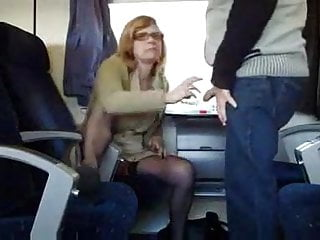 Fuck in train Mature amateur couple fuck in the train