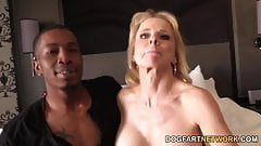 Cammille Gets Her Cougar Pussy Banged By Black Guys