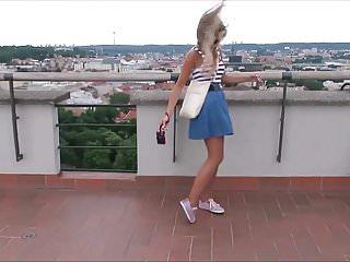 Windy upskirt girl in peru Pretty blonde windy upskirt