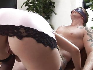 Fetish man sitting woman Stacey sits on a huge sausage and whirls wildly till she orgasms