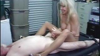 Pantyhose Bondage Post-Ejaculation Torture!