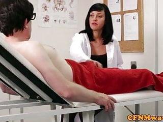 Eager nurse give handjob Cfnm femdom nurse eden james giving head