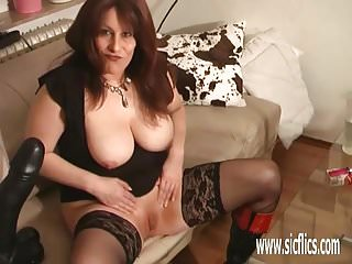 Colossal strip - Colossal dildo fucking amateur milf