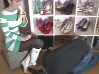 Mature bossy humiliating foot mistress - Goddess humiliating her slave