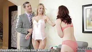 Jodi Taylor and Natasha Starr Sharing Cock
