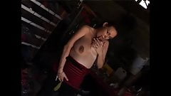 Leeloo Beautiful pregnant redhead shows off her huge