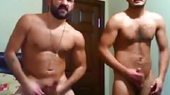 Two turkish hunks wanking on cam again