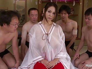 Four boys facials galleries Japanese girl with huge cans takes on four cocks