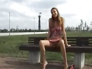 Exposed in public teen Russian girl exposed public for cash