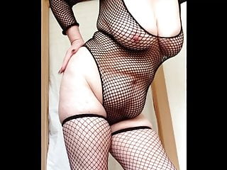 Pussy slapping video clips Sexy granny fishnets slapping big tits and pussy