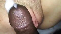 Mom gets cumshot beside pussy