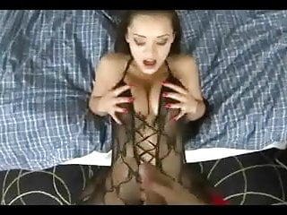 Shower and hot cum - She gets a warm cum shower on her hot body