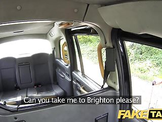 Sex in taxi previews Fake taxi lady in short dress gets a taxi creampie