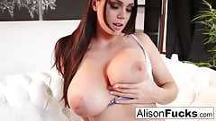 Amazing Alison rubs herself to a sexy conclusion