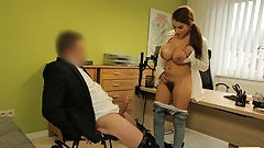 LOAN4K. Teen hottie got big fake breasts and should pay