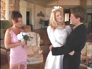 Bride groom lingerie - Stunning blonde bride fucks her groom with her bridesmaid