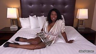 Curvy Ebony Milf Has All Natural Big Black Tits HD Fuck Film