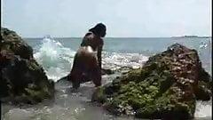 Exotic girl on the rocks  FM14