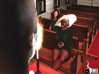 Porn pastor - Big butt granny catches the pastor fucking after church