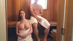 DOLL LIKE MILF FUCKS RANDOM SAUNA GUY
