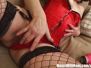 Sexy swinging mamas dvd - Sexy mama eva in her lingerie fucking a young stud