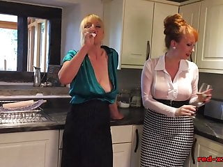 Redhead girlfriend fucked Mature redhead fucks her girlfriend with a rolling pin