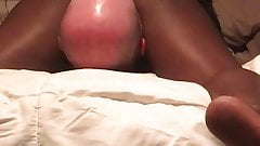 Amateur ebony face sitting