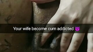 Wife become cum addicted ruined slut for creampies!