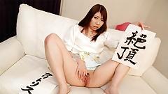 Japanese babe, Renka Shimizu masturbates, uncensored