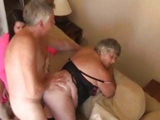 Eyes breast - Grandma libby and angel eyes share a young cock