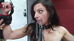 Anal Pussy Fisting with Plug in Slave Girl Pussy