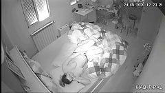 Young mom Masturbates in front of a hidden camera
