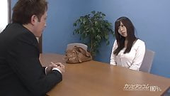 Job interview leads sucking a cock