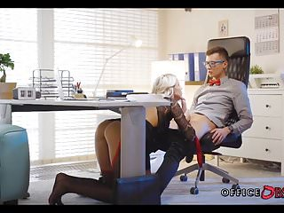 Babes in naked - Blonde milf fucks with her younger boss for promotion