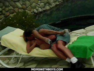 Busty and video - Busty and sexy redhead mom fucking outdoors