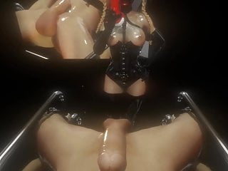 Longest male orgasm video 3d sfm vr mistress fucks male slave with dildo, cums again multiple times