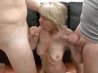 Granny ridein cock - Totally slutty granny loves to take young cocks and jizz